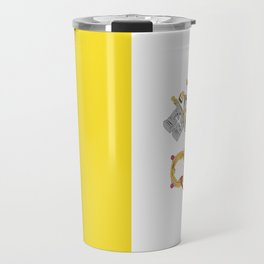 Vatican City Holy See flag emblem Travel Mug