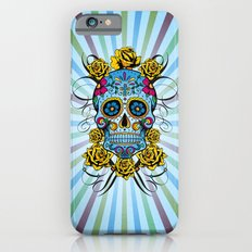 Sugar skull- Day of the dead- blue iPhone 6s Slim Case