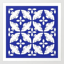 Dove Pattern 2 Art Print