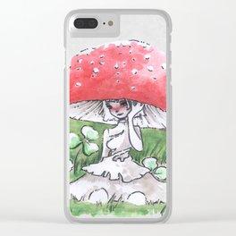 Empire of Mushrooms: Amanita Muscaria Clear iPhone Case