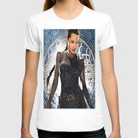 lara croft T-shirts featuring Angelina Jolie as Lara Croft by Brian Raggatt
