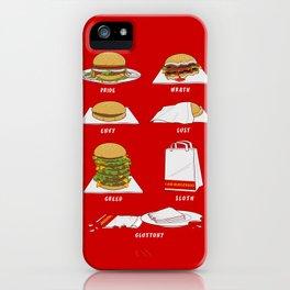 Seven Deadly Hamburgers iPhone Case