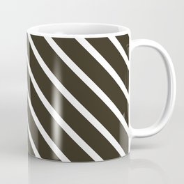 Molasses Diagonal Stripes Coffee Mug