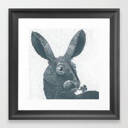 lepus cum clover Framed Art Print