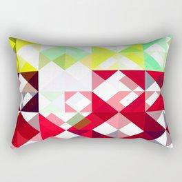 Mixed Color Poinsettias 2 Abstract Triangles 1 Rectangular Pillow