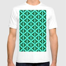 pttrn15 White MEDIUM Mens Fitted Tee