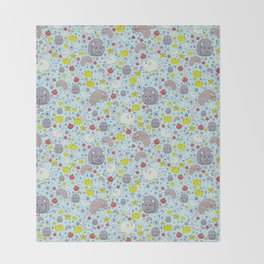 Pretty Rat and Mouse Pattern Throw Blanket