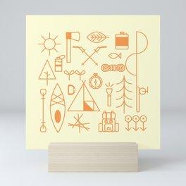 Hiking Gears Line Art Mini Art Print