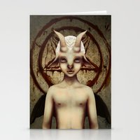 baphomet Stationery Cards featuring PETIT BAPHOMET by ENVYDOLLS