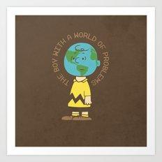 Charlie World Art Print