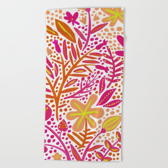Garden – Citrus Palette Beach Towel