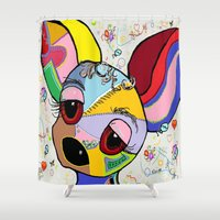 chihuahua Shower Curtains featuring Chihuahua by EloiseArt