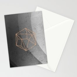 Geometric Solids on Marble Stationery Cards