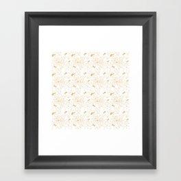 Bill Pattern Framed Art Print