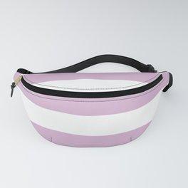 Pink lavender - solid color - white stripes pattern Fanny Pack