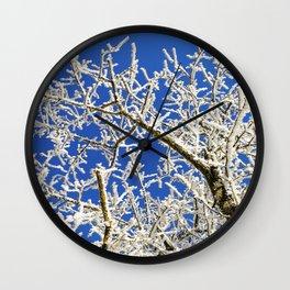 Frozen branches Wall Clock