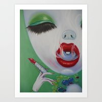 lipstick Art Prints featuring Lipstick by Sahara Novotny
