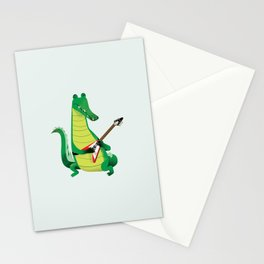Crocodile Rock Stationery Cards
