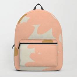 Peach Flowers | Abstract Illustration Backpack