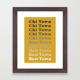 Chi Town (Portrait) Framed Art Print