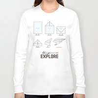 transformer Long Sleeve T-shirts featuring Let's go explore by I Love Doodle