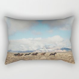 Running Reservation Horses Rectangular Pillow