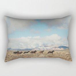 Running Reservation Horses Rectangular Pillow