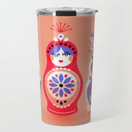 Russian Nesting Dolls – Pink & Lavender Travel Mug