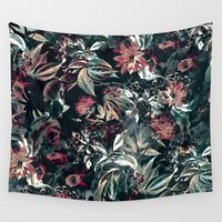 garden Wall Tapestries featuring Space Garden by RIZA PEKER