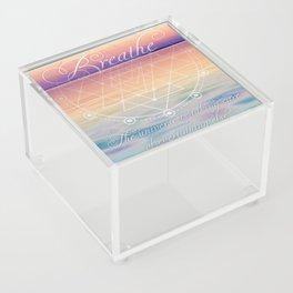 Breathe - Reminder Affirmation Mindful Quote Acrylic Box