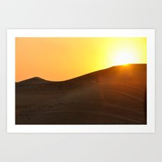 Sunset Desert Art Print