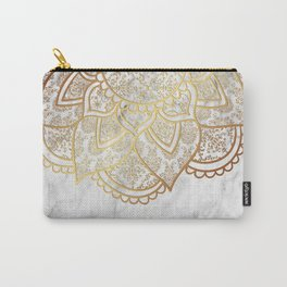 Mandala - Gold & Marble Carry-All Pouch