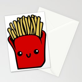 fries fun Cartoon Chips, Character, Characters, Cute, Fast Food Stationery Cards