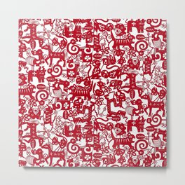 paper zodiac red Metal Print