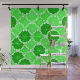 Lime Slices Wall Mural