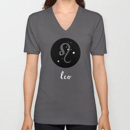 Leo Zodiac Watercolor Unisex V-Neck