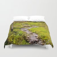 river Duvet Covers featuring River by Julie Luke