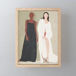 Two Flowing Models Framed Mini Art Print
