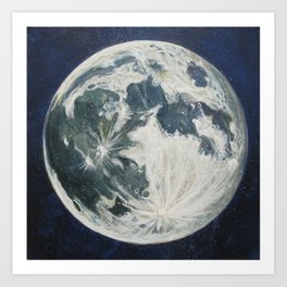 Moon Portrait 3 Art Print