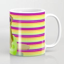 Bulldog Pool Party - 3 Dog Stripes Coffee Mug