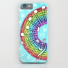 Music Rainbow iPhone Case