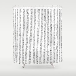 Zen Master asemic calligraphy for home & office decoration Shower Curtain