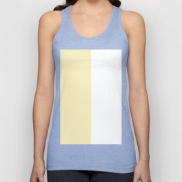 White and Blond Yellow Vertical Halves Unisex Tank Top