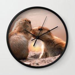 I #love #you #Mum, a #little #marmot äkisses his #mom Wall Clock