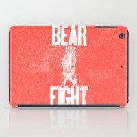 anchorman iPad Cases featuring Bear Fight by John Choura Jr.
