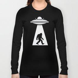 Bigfoot UFO Abduction Believe Long Sleeve T-shirt