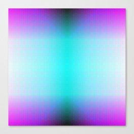 Purple Blue Black Ombre Hexagons Bi-lobe Contact binary Canvas Print