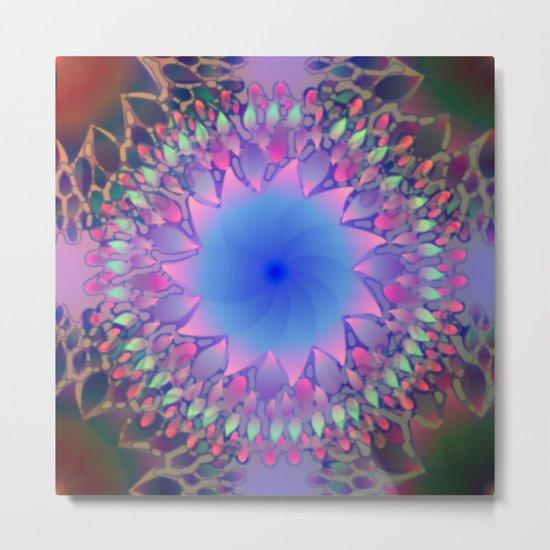 Hippie Starburst Mandala Metal Print