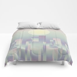 Opalescent dawning Comforters