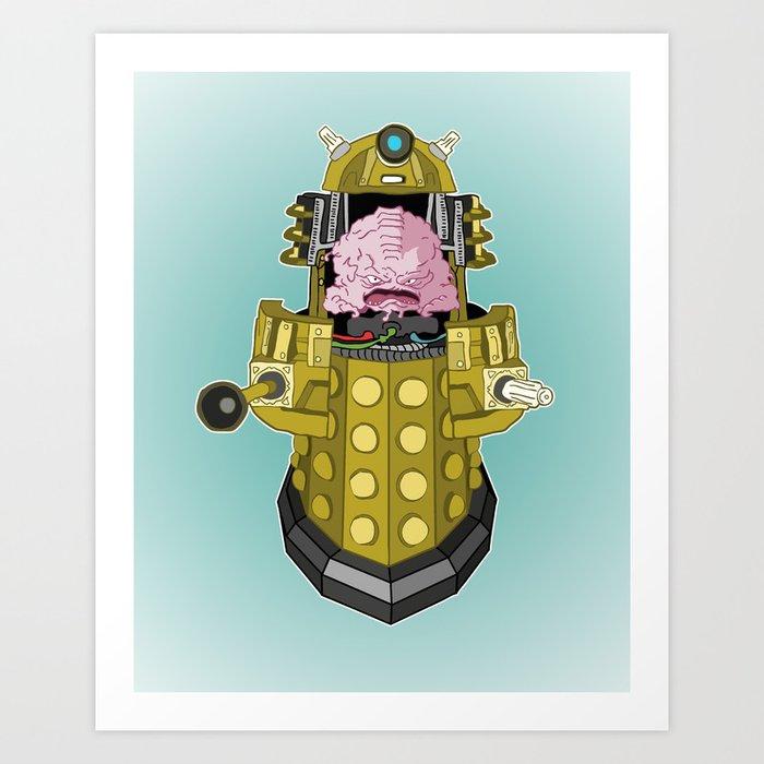 Kralek: Exterminate the Turtles! Art Print